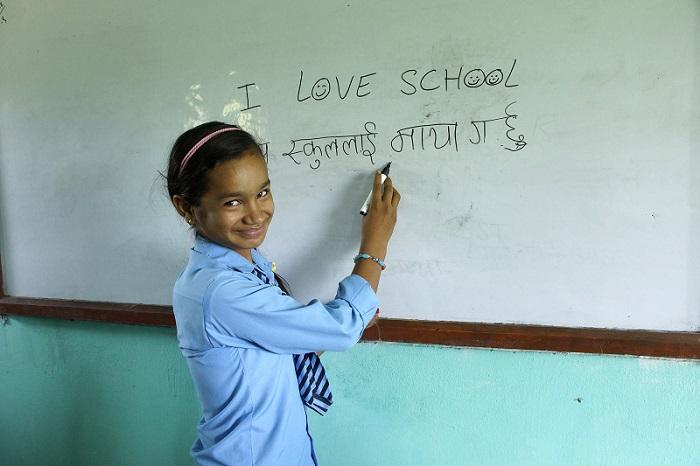 Leseförderung in Nepal